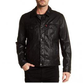 Classic Denim Style Leather Jacket