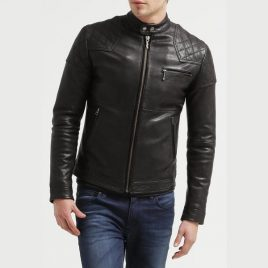 Shoulder & Arms Quilted Moto Rider Jacket