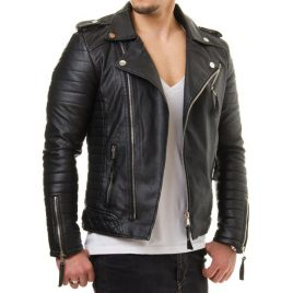 Quilted Motor Bike Jacket