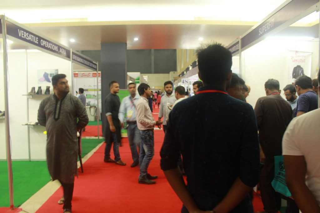 People are visiting 8th Leather and Footwear Fair in Bangladesh 2018-2019