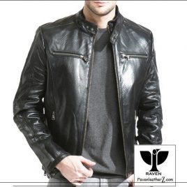 RS:02 MEN'S GENUINE LEATHER CLASSIC RACING JACKET
