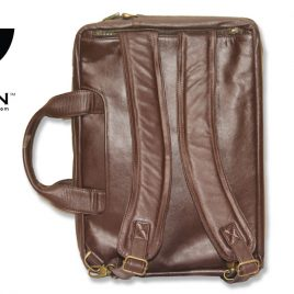 RAVEN LEATHER OFFICE BACKPACK: ROB 04