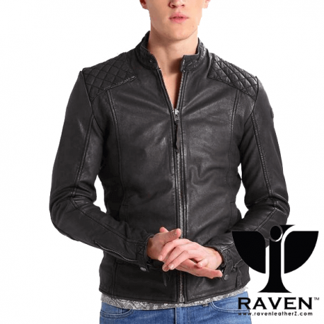 RW-04-Black-Cropped-Quilted-Jacket-Front-Side