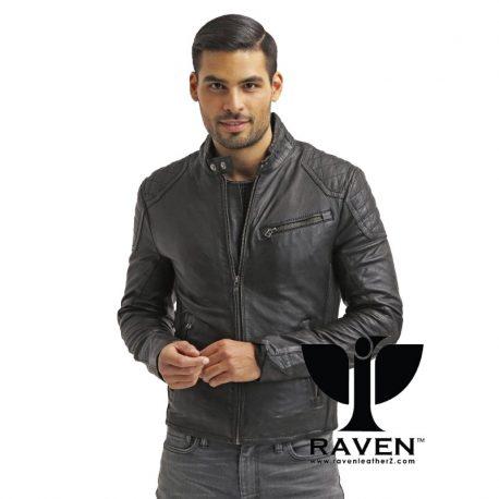 Slim-Fit-Black-Quilted-Jacket-Front-Side-2