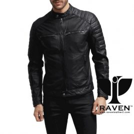 RR-06 SLIM FIT QUILTED MOTO RIDER JACKET