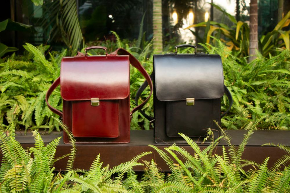 Jillanie Backpack Collection Black and Vintage Red Color