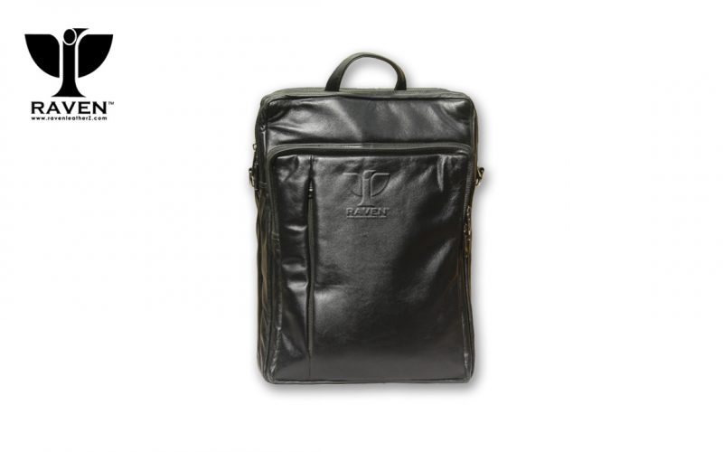 RUB-12-Black-Leather-Backpack-Front