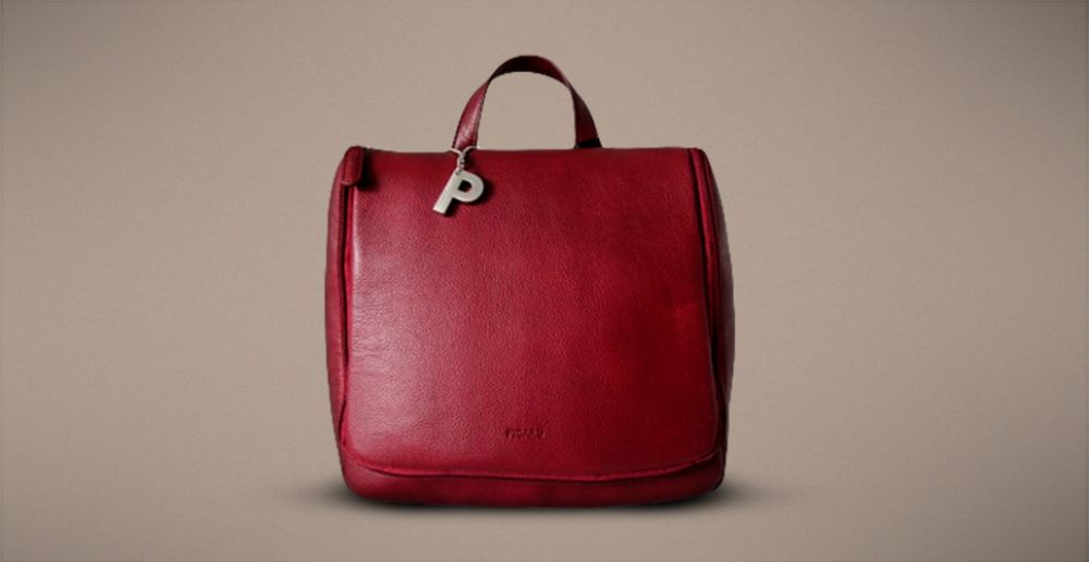 Red Color Ladies Leather Bag By Picard