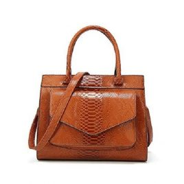 Ambushed Flap Style Ladies Handbag with Shoulder Strap
