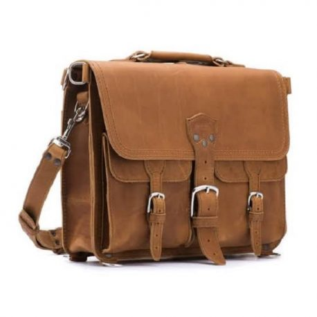 Base Color Retro Style Messenger Bag