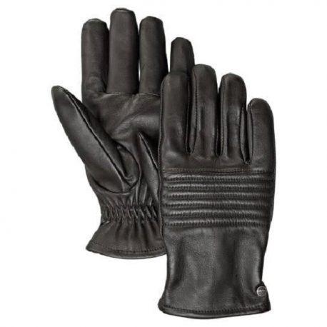Black Quilted Upper Full Gloves