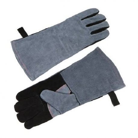 Black and Matt Blue Color Long Kitchen Gloves