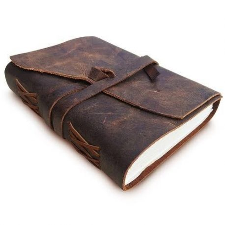 Black and Vintage Brown Shade Leather Dairy Cover
