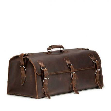 Blackish Dark Chocolate Color Extra Large Duffel Bag