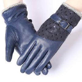 Blue Color Ladies Fashionable Full Hand Gloves