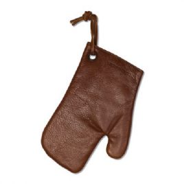 Brown Color Full Leather Kitchen Gloves