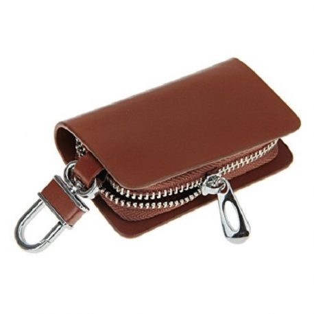 Brown Color Leather Key Case