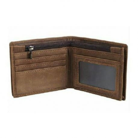 Chocolate Color Bi Fold Leather Wallet