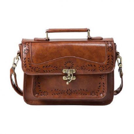 Cut Work Upper Flap Style Messenger Bag