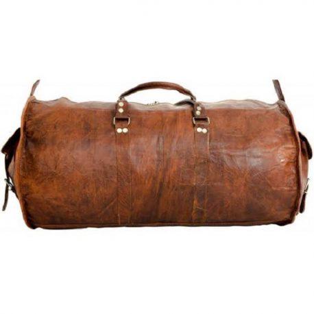 Cylinder Shape Vintage Look Large Duffel Bag