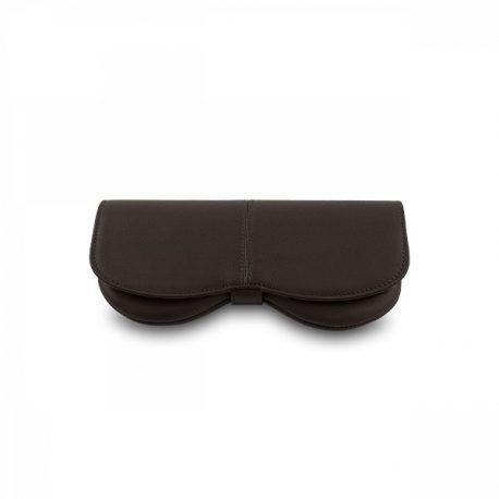 Dark Chocolate Color Eye Wear Shape Sun Glass Case