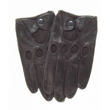 Dark Chocolate Color Fashionable Driving Gloves