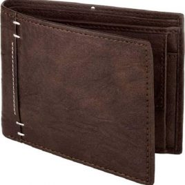 Dark Chocolate Color Vintage Shade Bi Fold Wallet