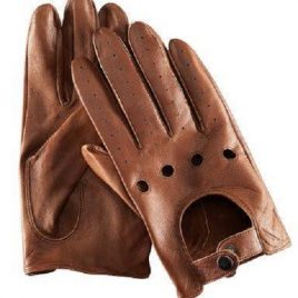 Dark Tan Color Full Hand Gloves