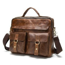 Deep Chocolate Color Vintage Shade Official Messenger Bag
