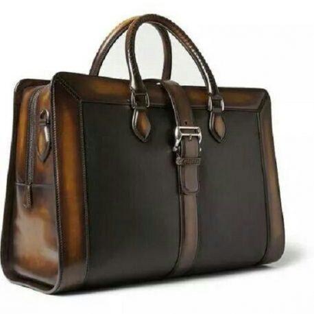 Duel Contrast Ladies Medium Office Bag