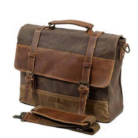 Duel Contrast Stylish Classic Messenger Bag