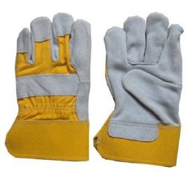 Duel Tone Suede Leather Industrial Gloves