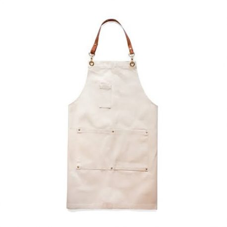 Fabric and Leather Mixed Industrial Apron