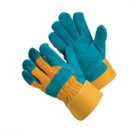 Fabric and Suede Mixed Working Gloves