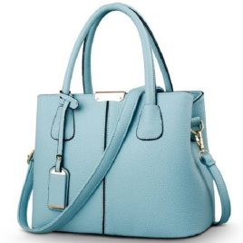 Ice Blue Color Ladies Converting Bag