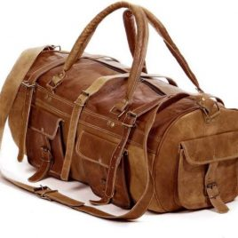 Large Duel Contrast Travelling Duffel Bag