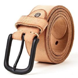 Light Tan Color Buffalo Leather Belt