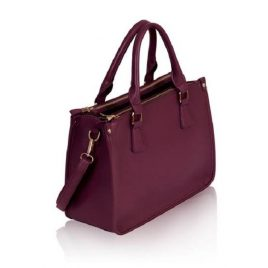 Maroon Color Business Class Ladies Handbag with Shoulder Strap