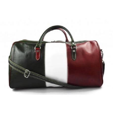 Multi Color Genuine Leather Duffel Bag