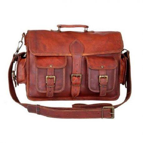 Multi Pocket Classic Retro Style Messenger Bag
