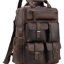 Multi Pocket Reddish Chocolate Color Shoulder Backpack