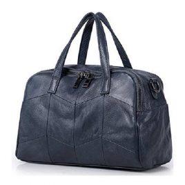 Navy Blue Color Classy Bowler Ladies Bag