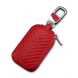 Red Ambushed Leather Key Case