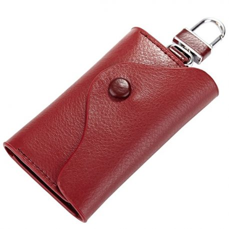 Red Color Leather Key Case