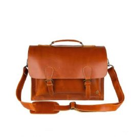 Reddish Brown Full Leather Office Satchels