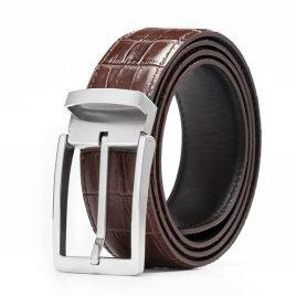 Reddish Chocolate Color Ambushed Leather Belt