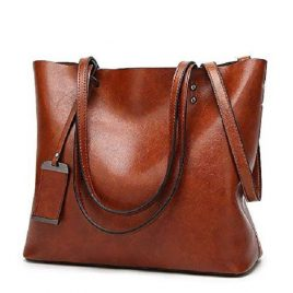 Top Handle Satchel Ladies Handbag with Shoulder Strap