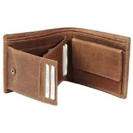 Vintage Brown Bi fold Leather Wallet