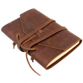 Vintage Brown Leather Diary Cover