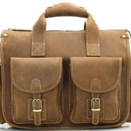 Vintage Brown Multi Pocket Casual Satchels